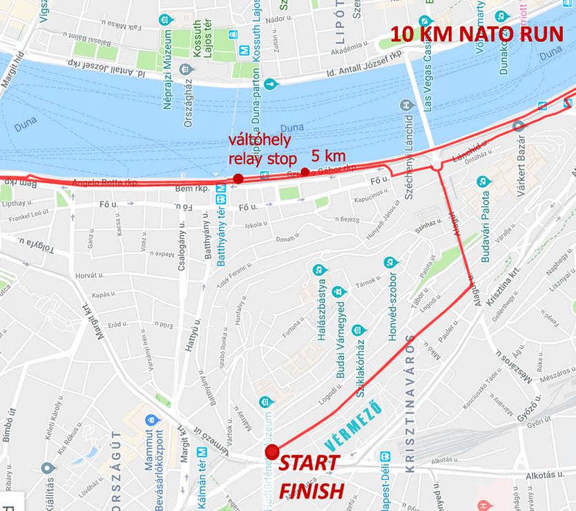 NATO futás 10 km térkép