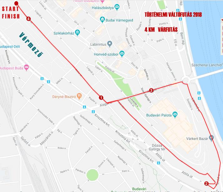 NATO futás 4 km térkép
